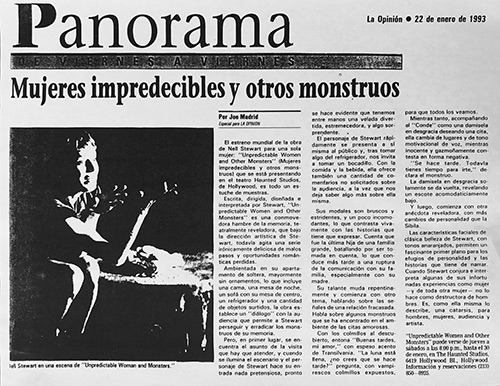LA Opinion Review of Unpredictable Women and Monsters